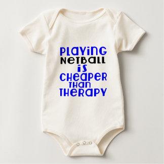 Het spelen Netball Goedkoper dan Therapie Baby Shirt