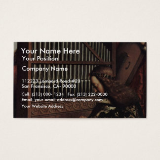 Het Spelen van de engel door Hubert Van Eyck Visitekaartjes