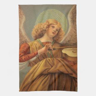 Het Spelen van de Engel van Kerstmis Viool Melozzo Theedoek