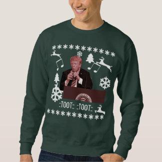 Het spelen van Donald Trump de lelijke sweater van