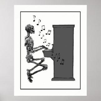 Het Spelen van het Skelet van de pret Vintage Poster