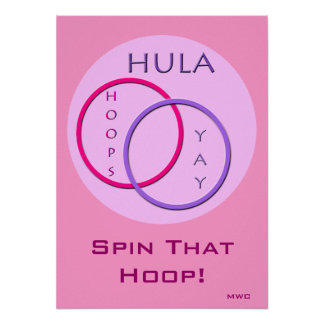 Het Spinnen van de Hoepel van Hula Poster
