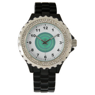 ~ Het spinnen van Groene Fractal ~ Horloge