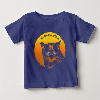 Het spinnende Zuivere Koele Leven van Purrra Vida Baby T Shirts