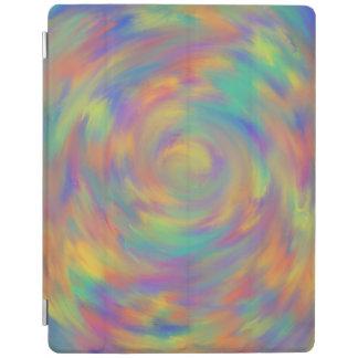 Het Spiraalvormige Abstracte Art. van de paarse iPad Cover