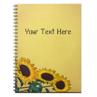 Het Spiraalvormige Notitieboekje van de zonnebloem Notitieboeken