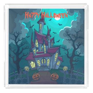 Het Spookhuis van Halloween Acryl Dienblad