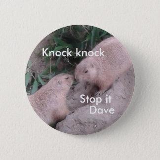 Het spreken van prairiehonden ronde button 5,7 cm
