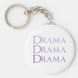 Het Spreuk van het drama Basic Ronde Button Sleutelhanger