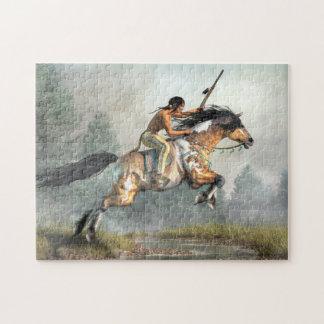 Het springen Paard Legpuzzel