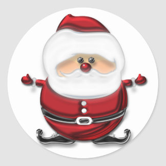 Het Springen van de Kerstman Ronde Sticker