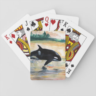 Het Springen van de walvis de Klassieke Speelkaarten