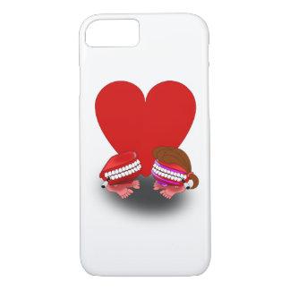Het springende Paar van Tanden iPhone 8/7 Hoesje