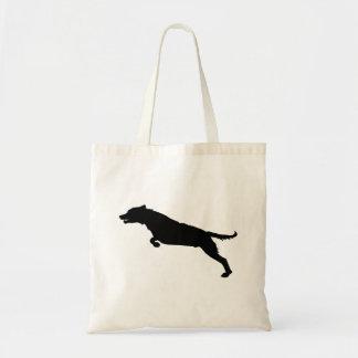 Het springende Silhouet van de Hond Draagtas