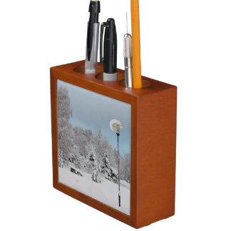 Het sprookjesland van de winter pennenhouder
