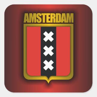 Het Staal van Amsterdam (Vlag) Vierkante Sticker