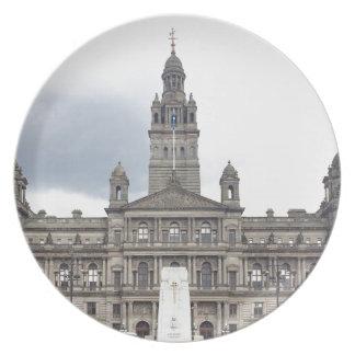 Het Stadhuis van Glasgow Bord