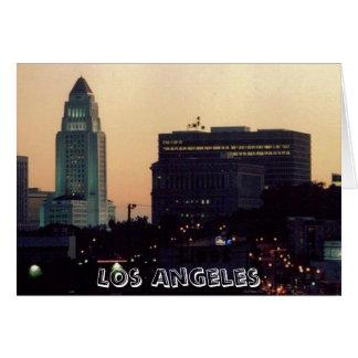 Het Stadhuis van Los Angeles bij de kaart van de