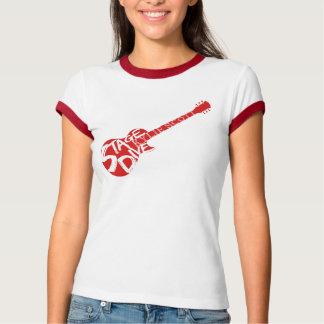 Het stadium duikt - Rode Gitaar T Shirt