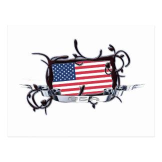Het stammen Briefkaart van de V.S. van de Vlag
