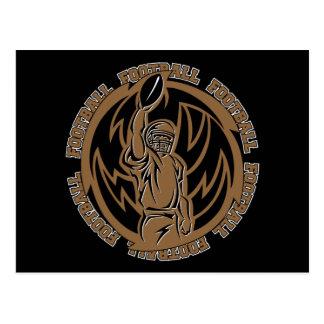Het Stammen Bruine Logo van het football Briefkaart
