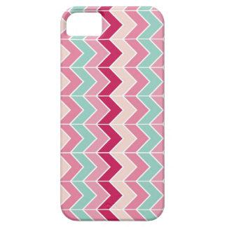 Het stammen elegante patroon van de de strepenzigz barely there iPhone 5 hoesje
