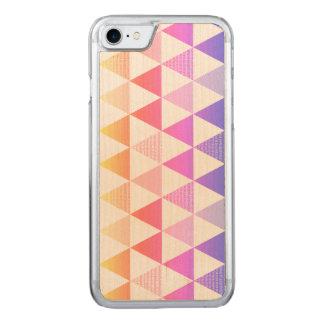 Het stammen Geometrische Prisma van de Regenboog Carved iPhone 8/7 Hoesje