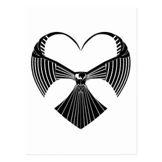 Het stammen Hart Postcar van de Valentijnsdag van Briefkaart
