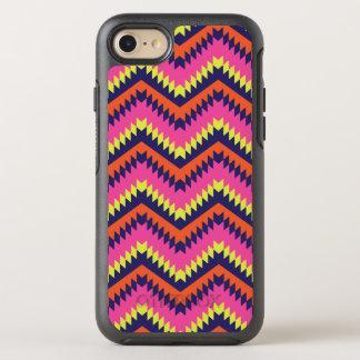 Het stammen Patroon van de Chevron van het Neon OtterBox Symmetry iPhone 7 Hoesje