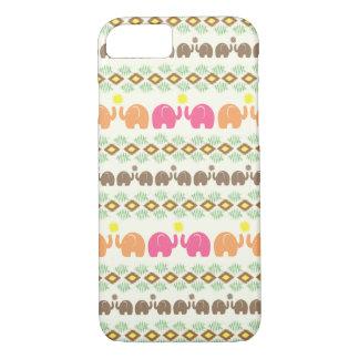 Het stammen Patroon van de Olifant van het Weefsel iPhone 7 Hoesje