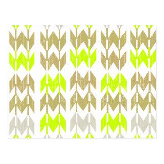 Het stammen patroon van het chevron geometrische briefkaart