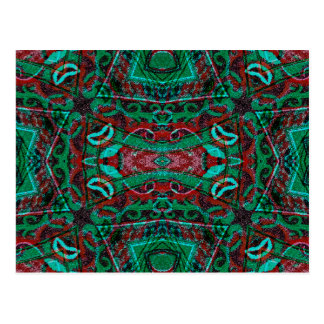 Het stammen Patroon van het Ornament in Rode en Briefkaart
