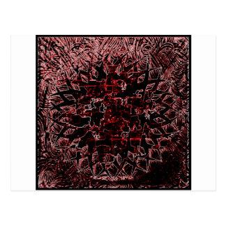 Het stammen Rood van het Effect Briefkaart