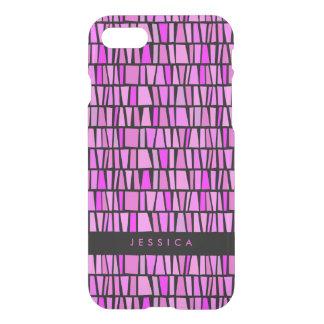 Het stammen Roze Patroon van de Domino iPhone 8/7 Hoesje