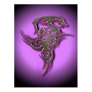 Het stammen scarry teken van de draak ocult briefkaart