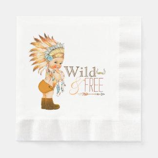 Het stammen Wilde en Vrije Baby shower van de Papieren Servet