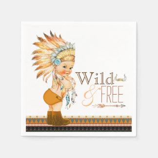 Het stammen Wilde en Vrije Baby shower van de Wegwerp Servetten