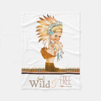 Het StammenBaby van wilde en Vrije Meisjes Fleece Deken