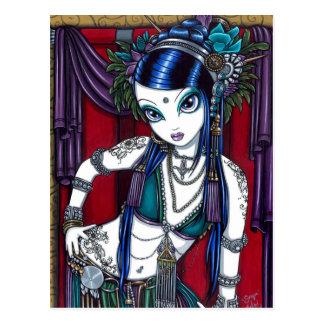 Het StammenBriefkaart van de Danser van de Buik Briefkaart