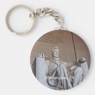 Het Standbeeld Keychain van Lincoln Basic Ronde Button Sleutelhanger