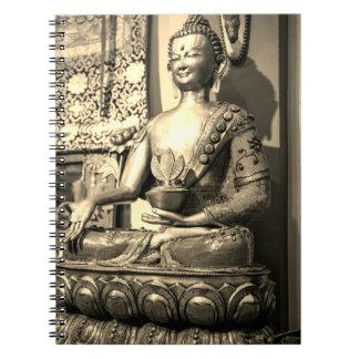 Het Standbeeld van Boedha van de zitting Ringband Notitieboek