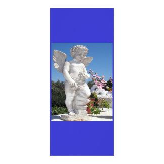 Het Standbeeld van de engel in Blauw en Wit IV Custom Uitnodigingen