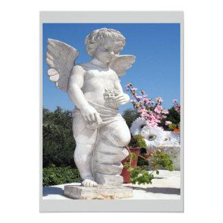 Het Standbeeld van de engel in Grijs en Wit Gepersonaliseerde Uitnodiging