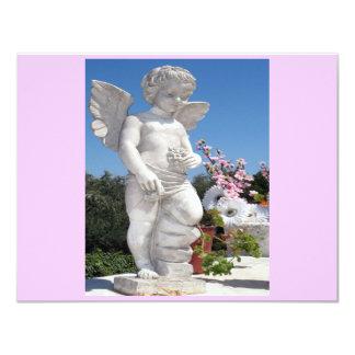 Het Standbeeld van de engel in Roze en Grijs II Gepersonaliseerde Uitnodiging