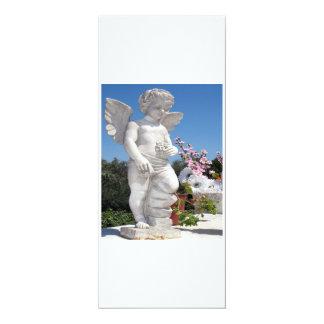 Het Standbeeld van de engel in Wit en Grijs IV 10,2x23,5 Uitnodiging Kaart