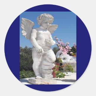 Het Standbeeld van de engel Ronde Stickers