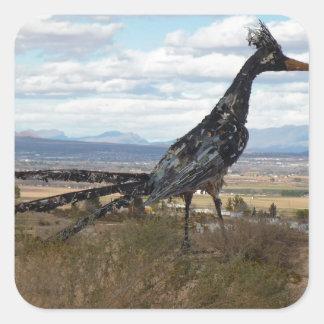 Het standbeeld van Roadrunner Vierkante Sticker