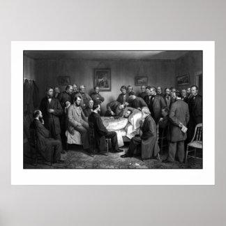 Het Sterfbed van Lincoln Poster