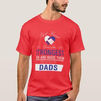 Het sterkste Man is de T-shirt van Dads Uplifting