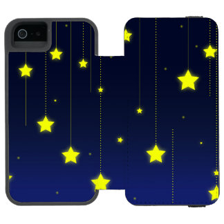 Het sterrige Hoesje van de Portefeuille van iPhone